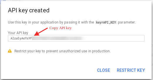 API key Genrate