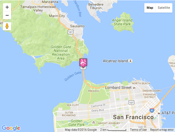 Display map Address