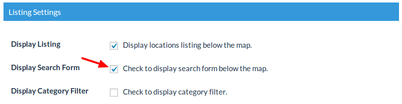 Display Search Form