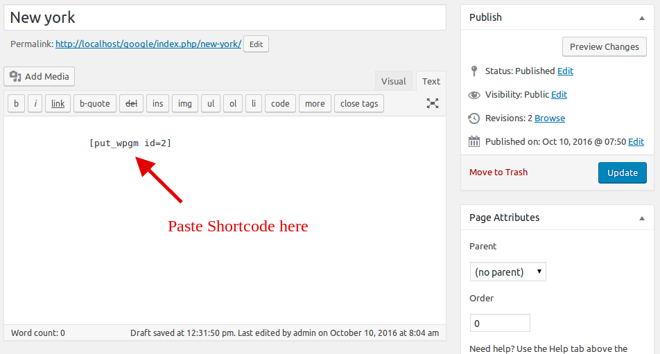 Shortcode Paste