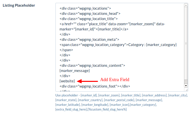 How to use a listing placeholder in listing settings
